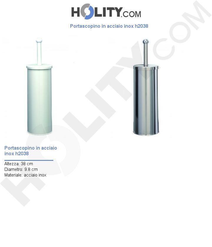 Portascopino in acciaio inox h2038