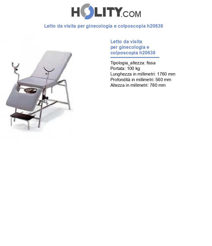 Letto da visita per ginecologia e colposcopia h20638