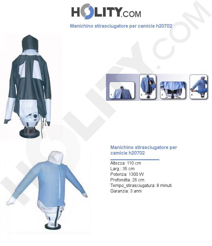 Manichino stirasciugatore per camicie h20702