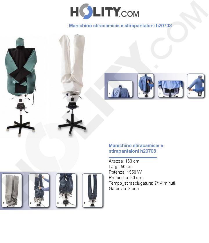 Manichino stiracamicie e stirapantaloni h20703