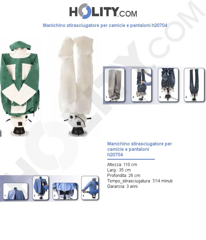 Manichino stirasciugatore per camicie e pantaloni h20704
