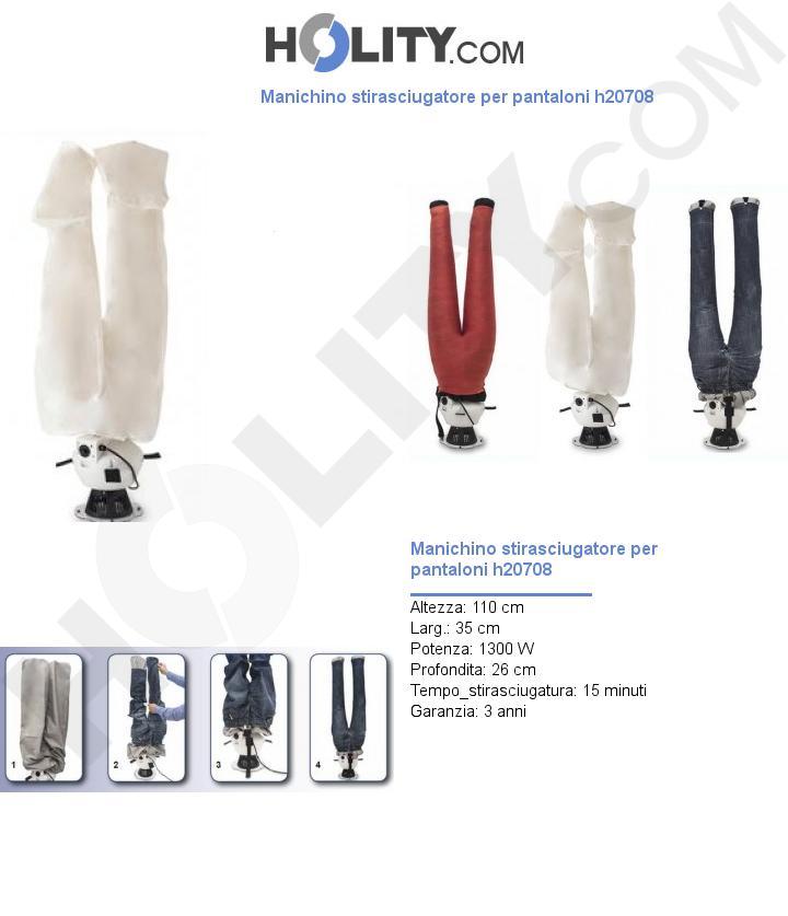 Manichino stirasciugatore per pantaloni h20708