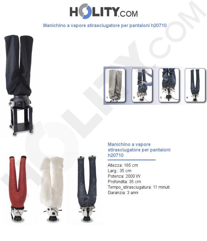 Manichino a vapore stirasciugatore per pantaloni h20710