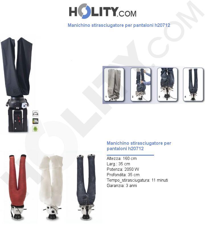 Manichino stirasciugatore per pantaloni h20712