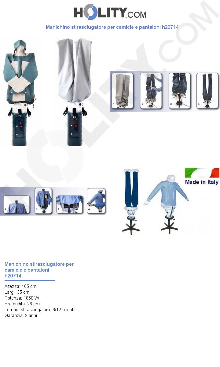 Manichino stirasciugatore per camicie e pantaloni h20714