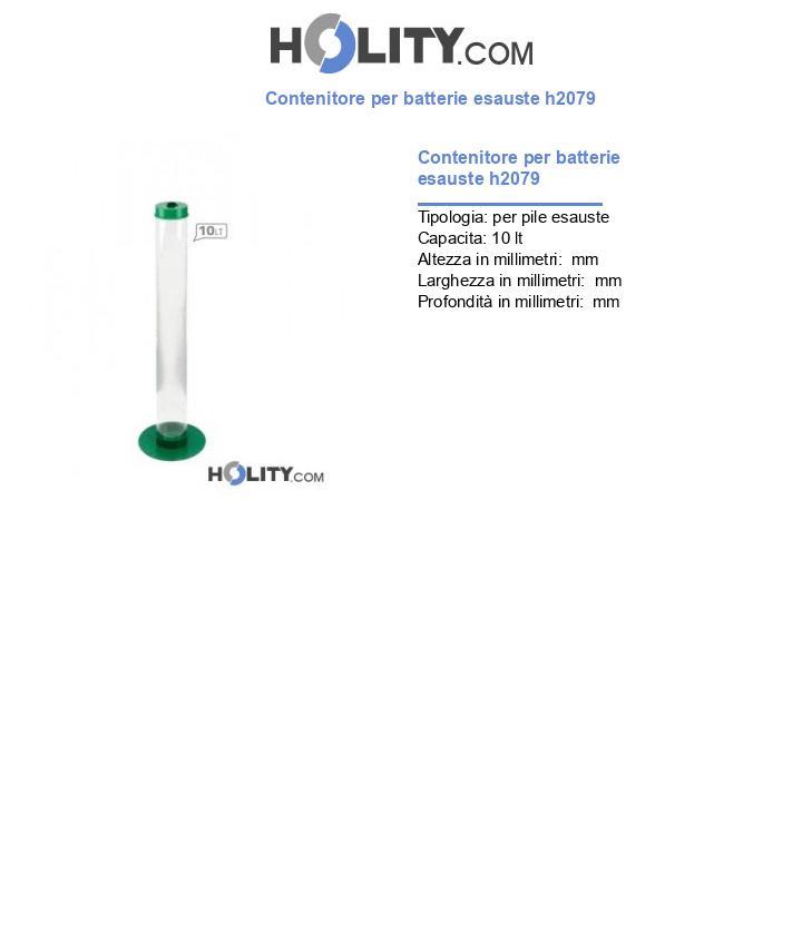 Contenitore per batterie esauste h2079