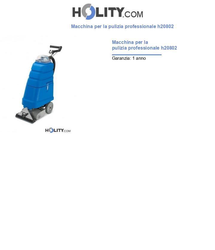 Macchina per la pulizia professionale h20802