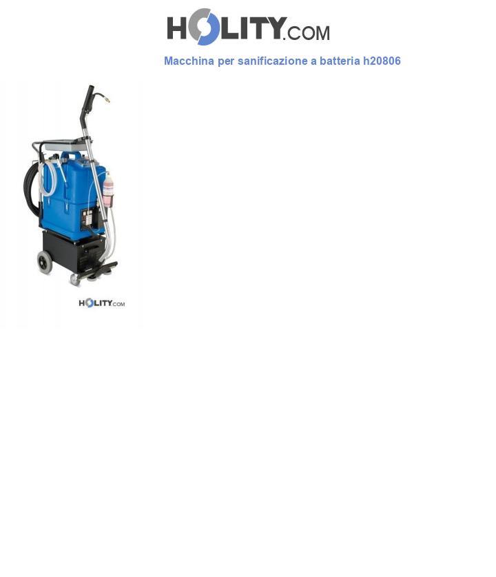 Macchina per sanificazione a batteria h20806