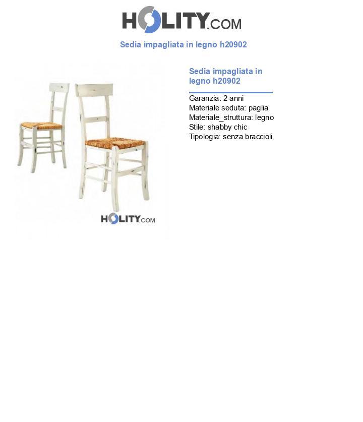 Sedia impagliata in legno h20902