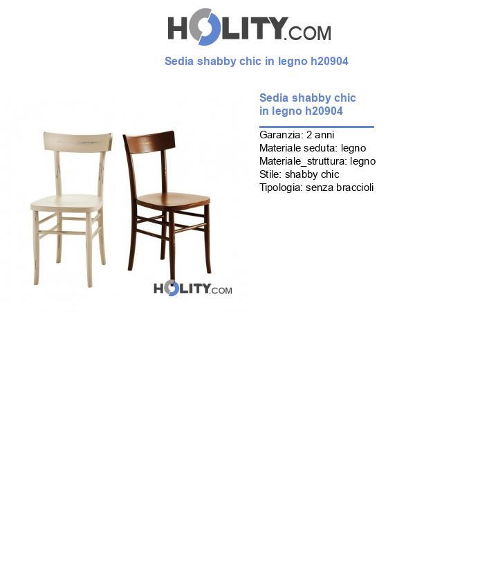 Sedia shabby chic in legno h20904