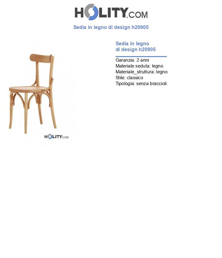 Sedia in legno di design h20905