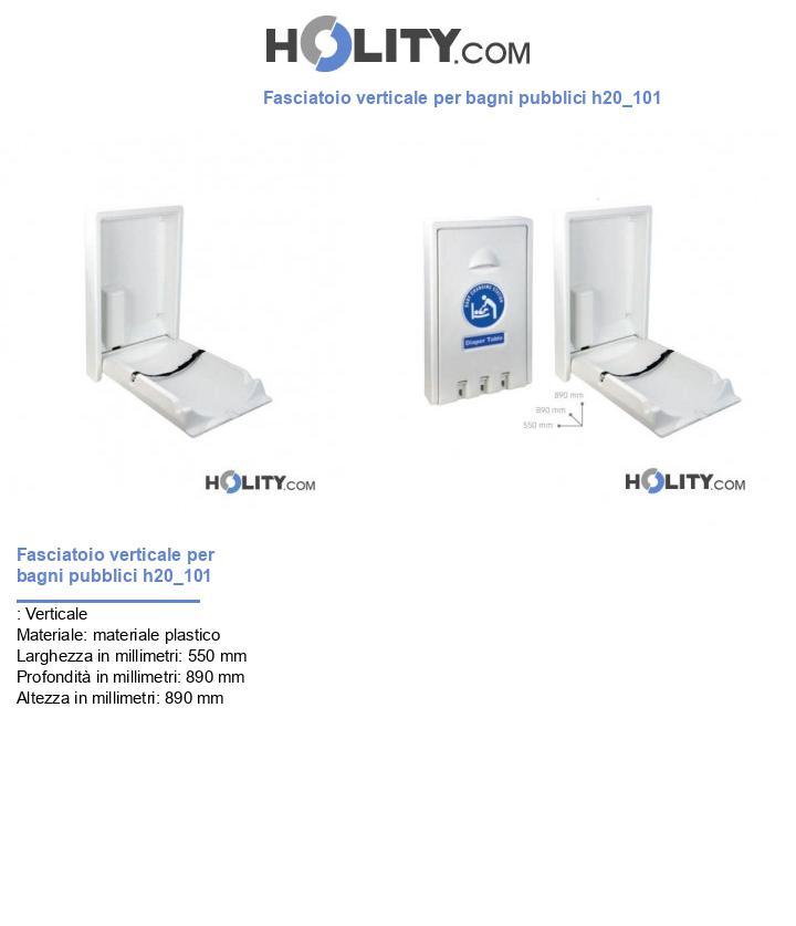 Fasciatoio verticale per bagni pubblici h20_101