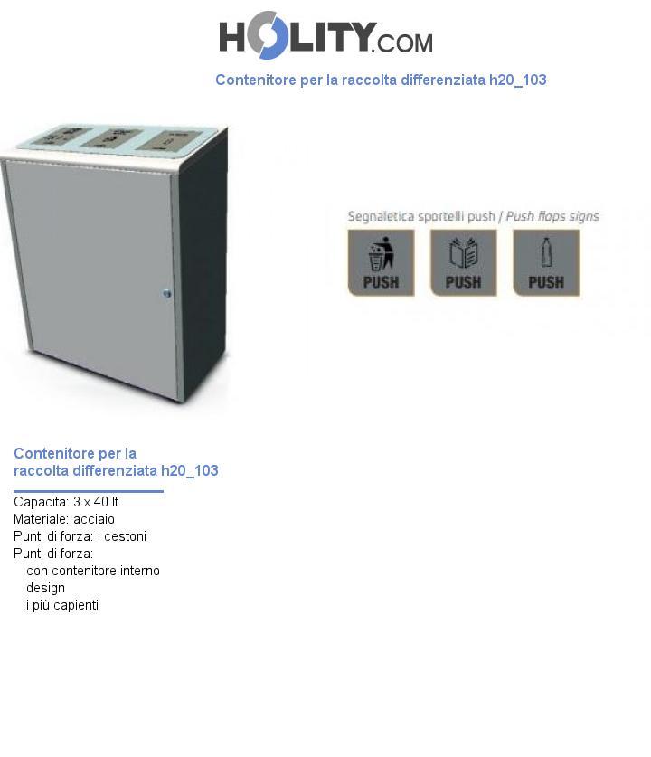 Contenitore per la raccolta differenziata h20_103
