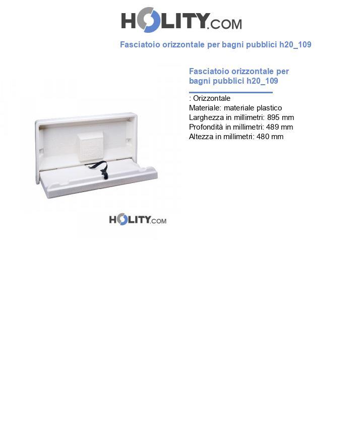 Fasciatoio orizzontale per bagni pubblici h20_109