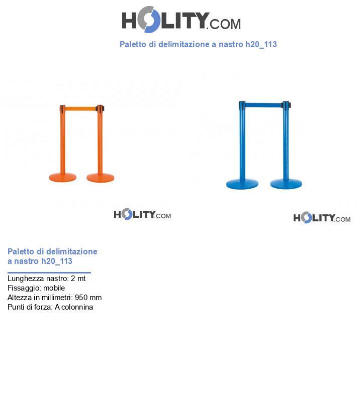 Paletto di delimitazione a nastro h20_113
