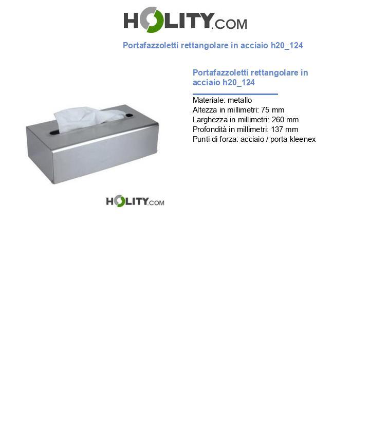 Portafazzoletti rettangolare in acciaio h20_124