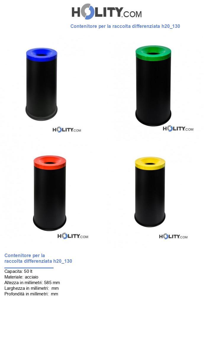Contenitore per la raccolta differenziata h20_130