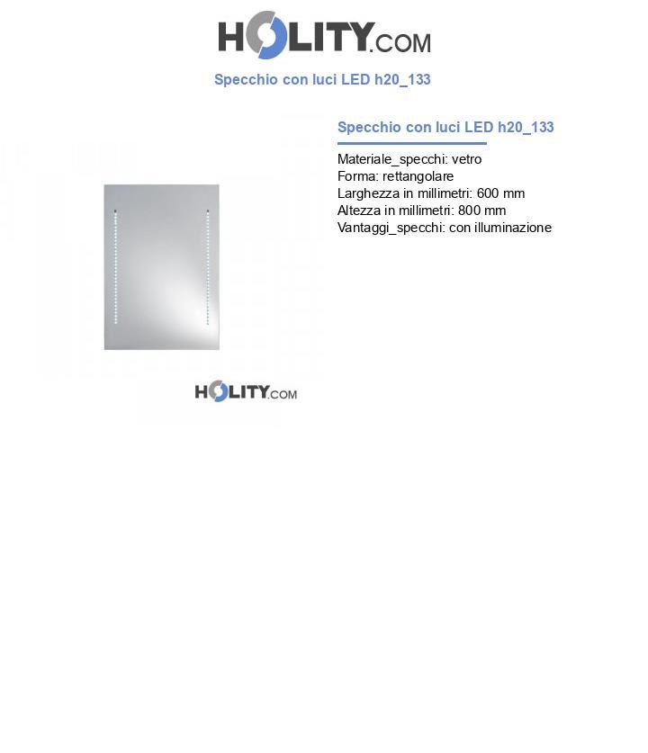 Specchio con luci LED h20_133