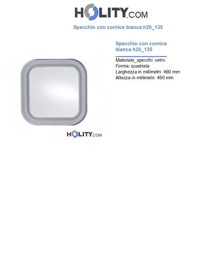 Specchio con cornice bianca h20_135