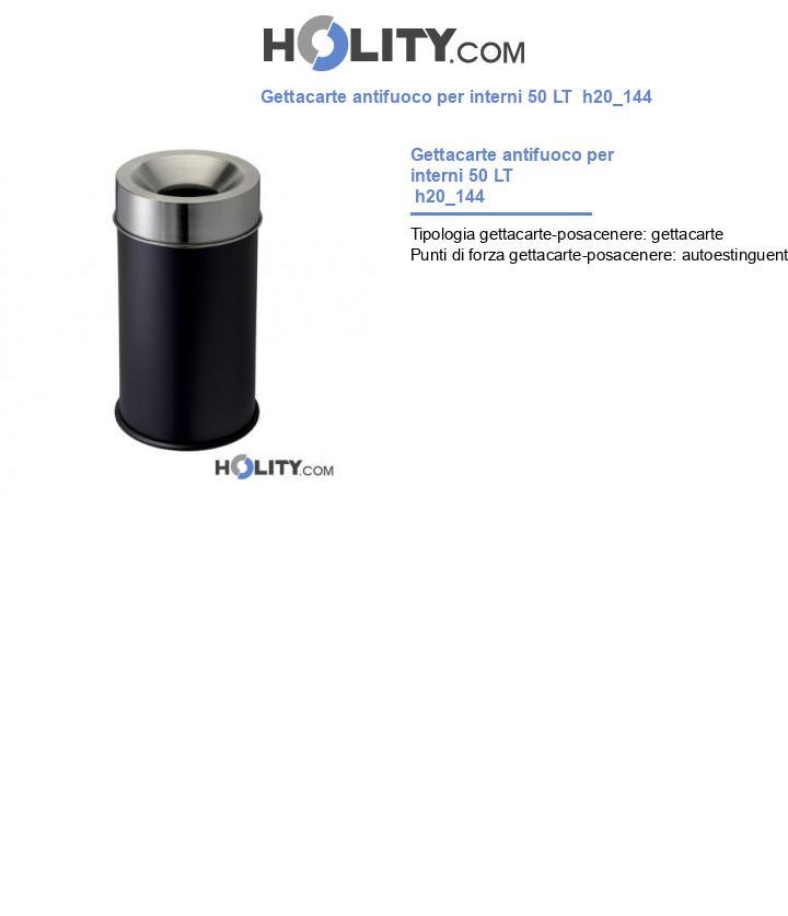 Gettacarte antifuoco per interni 50 LT  h20_144