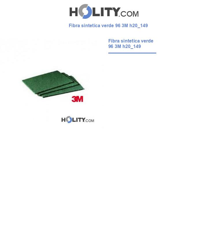 Fibra sintetica verde 96 3M h20_149