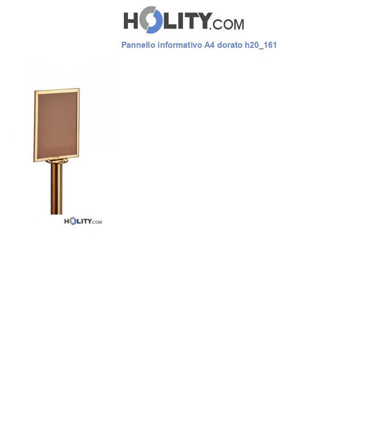 Pannello informativo A4 dorato h20_161