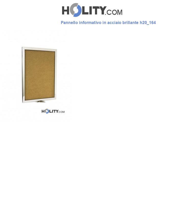 Pannello informativo in acciaio brillante h20_164