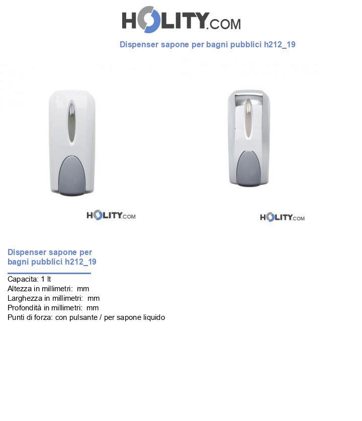 Dispenser sapone per bagni pubblici h212_19