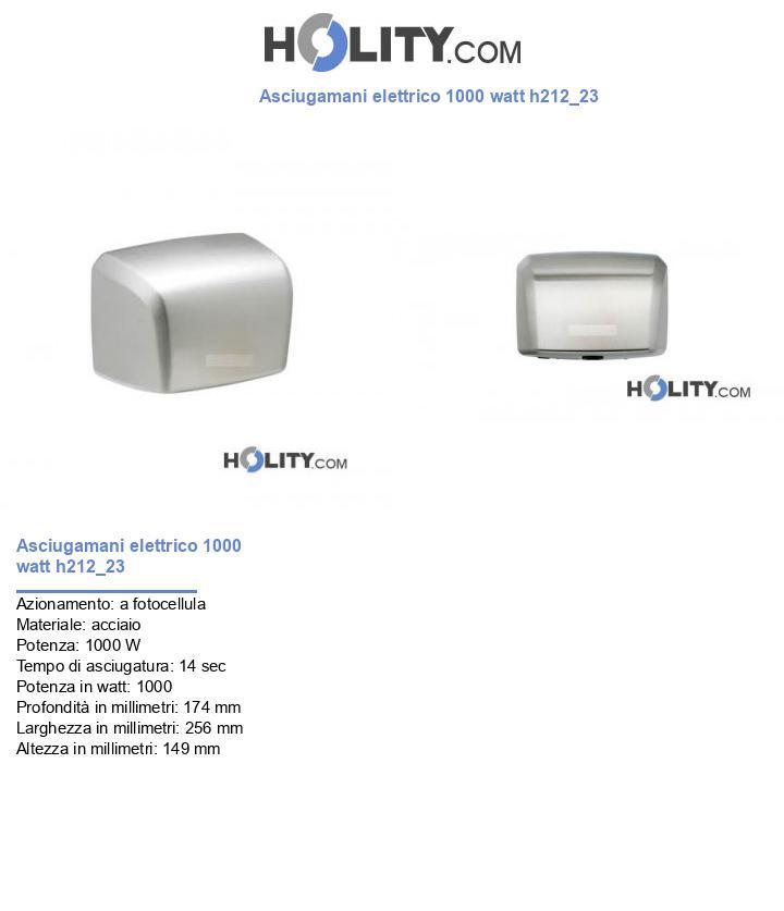 Asciugamani elettrico 1000 watt h212_23