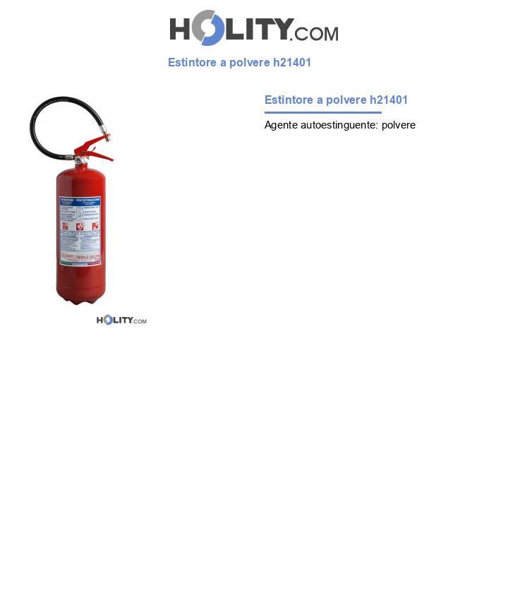 Estintore a polvere h21401