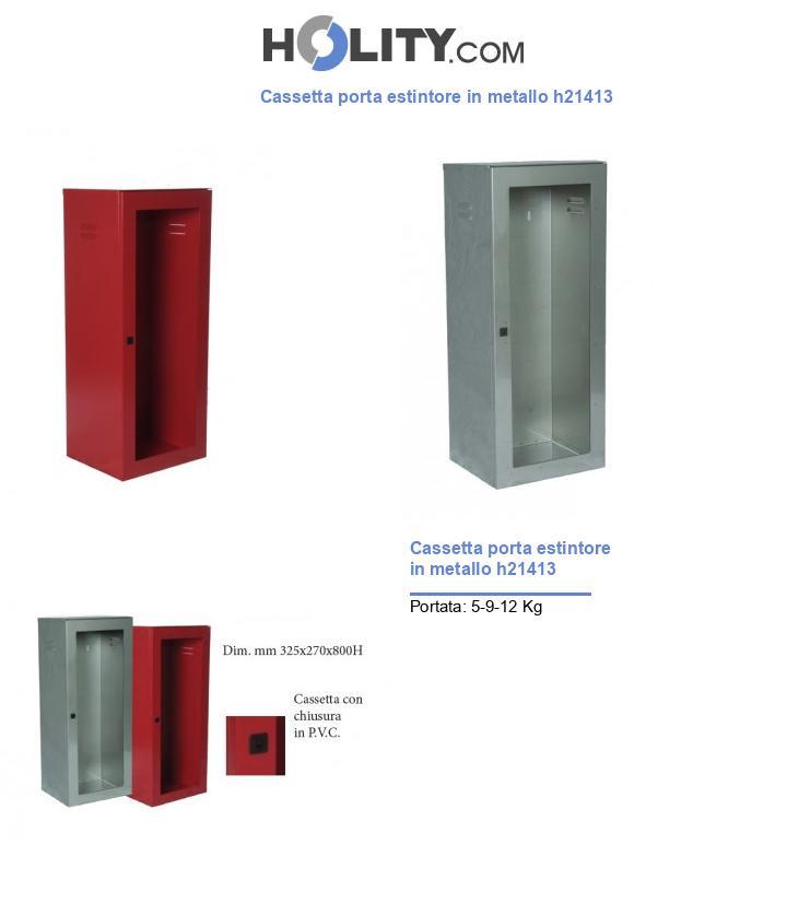 Cassetta porta estintore in metallo h21413