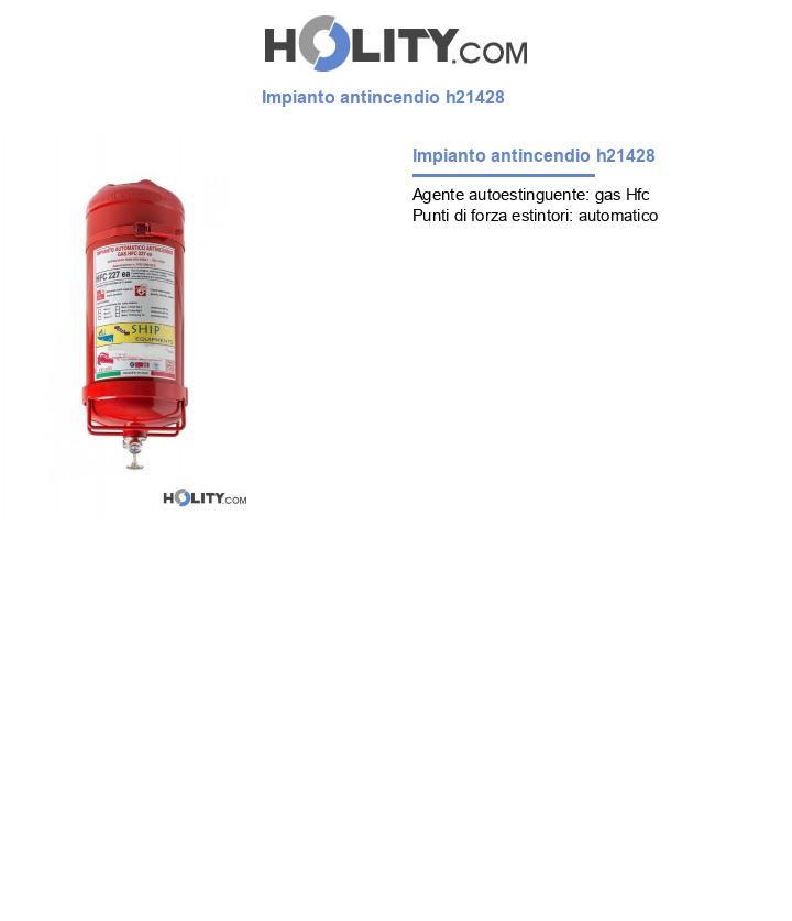 Impianto antincendio sprinkler h21428