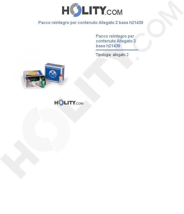 Pacco reintegro per contenuto Allegato 2 base h21439