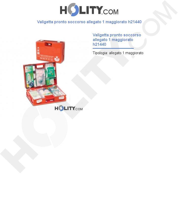 Valigetta pronto soccorso allegato 1 maggiorato h21440