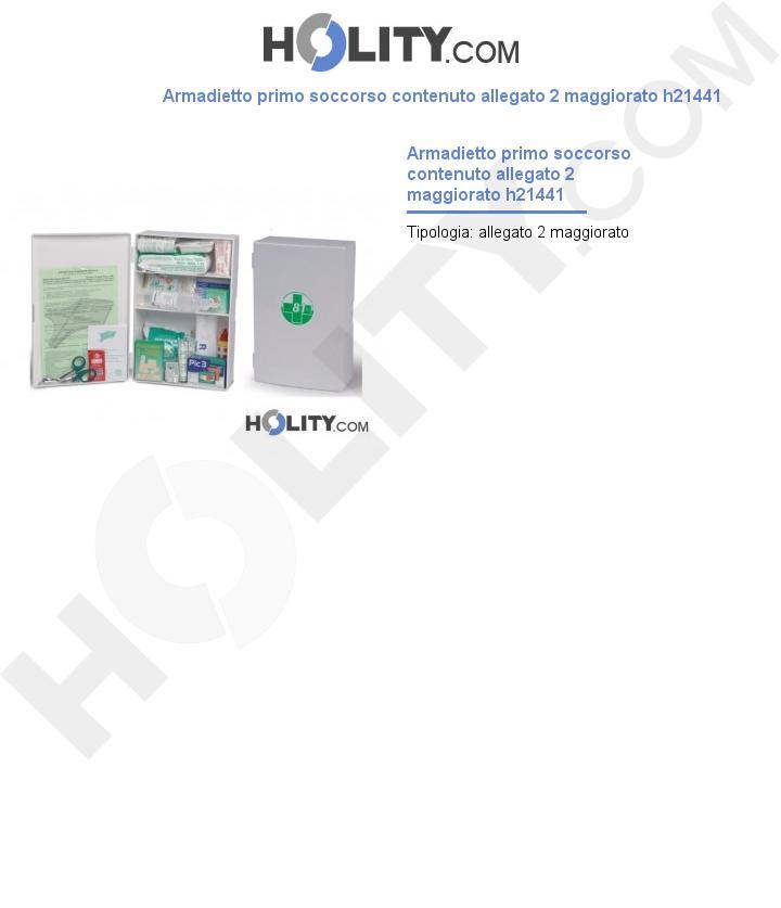 Armadietto primo soccorso contenuto allegato 2 maggiorato h21441