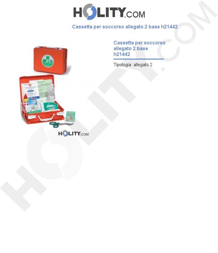 Cassetta per soccorso allegato 2 base h21442