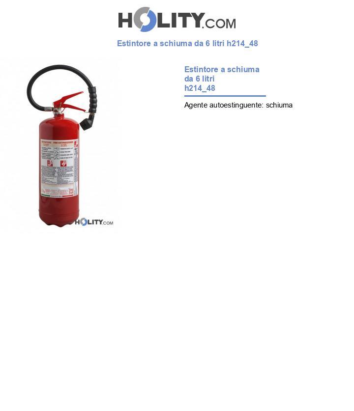 Estintore a schiuma da 6 litri h214_48