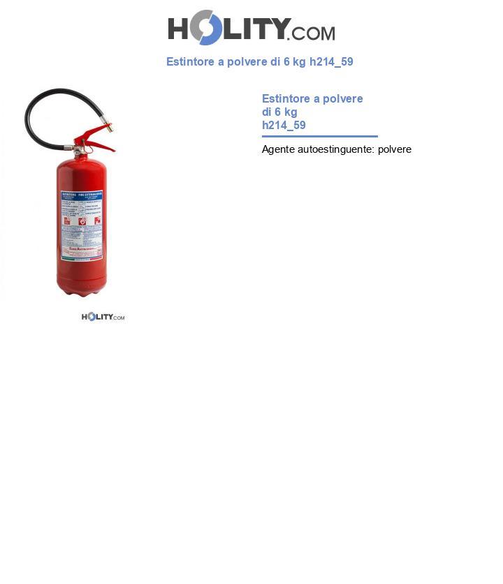 Estintore a polvere di 6 kg h214_59