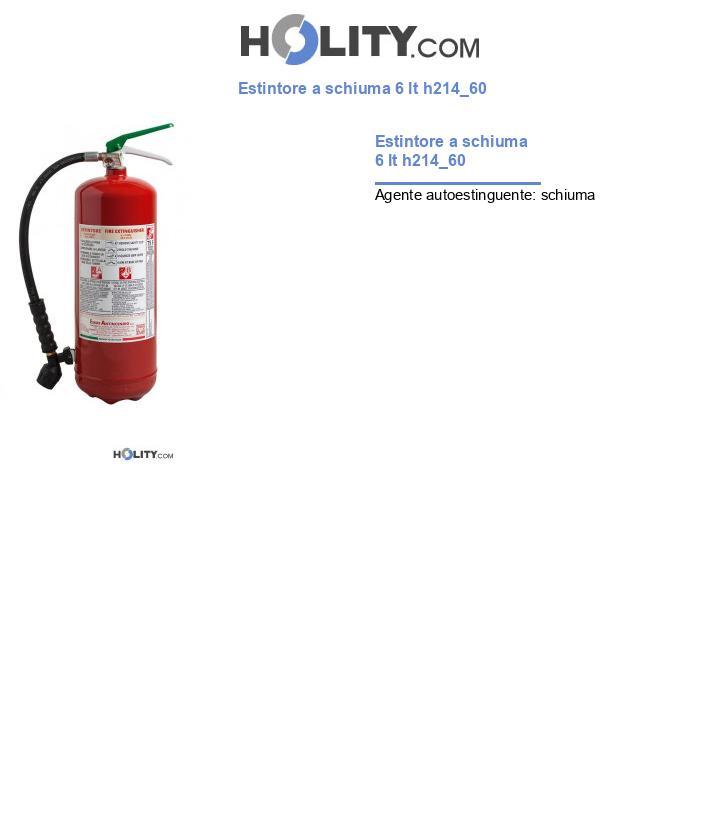 Estintore a schiuma 6 lt h214_60