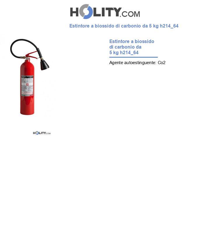Estintore a biossido di carbonio da 5 kg h214_64