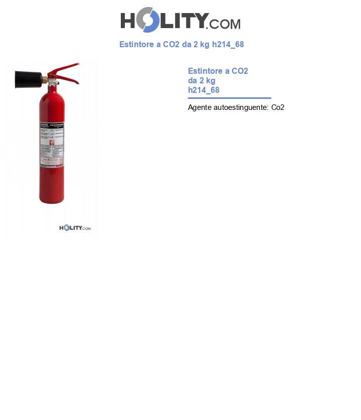Estintore a CO2 da 2 kg h214_68