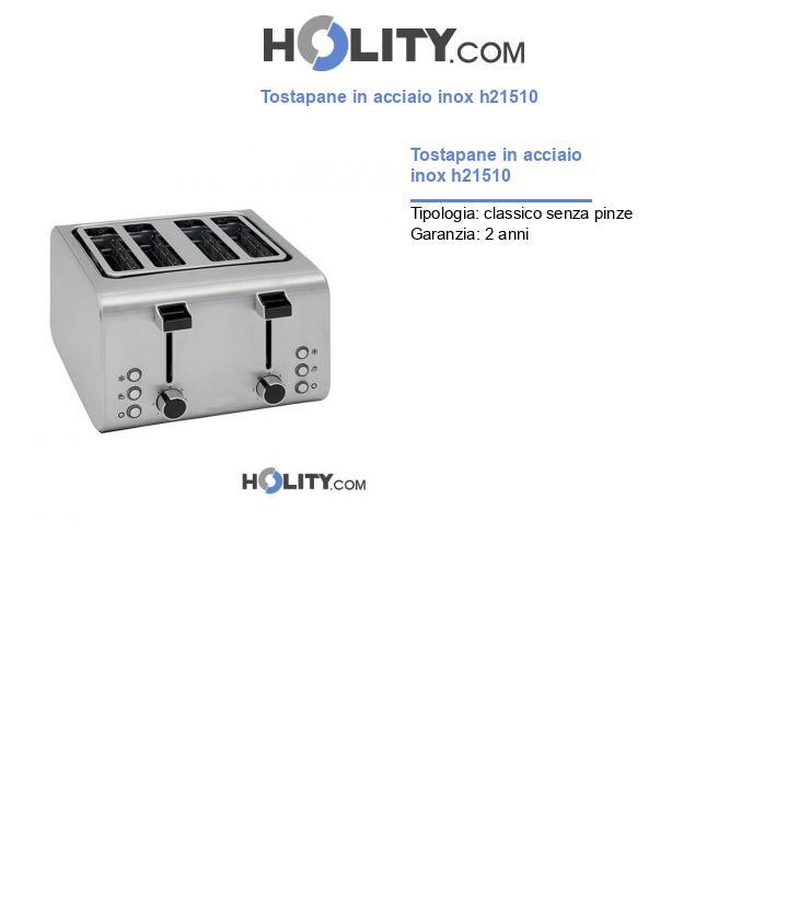 Tostapane in acciaio inox h21510