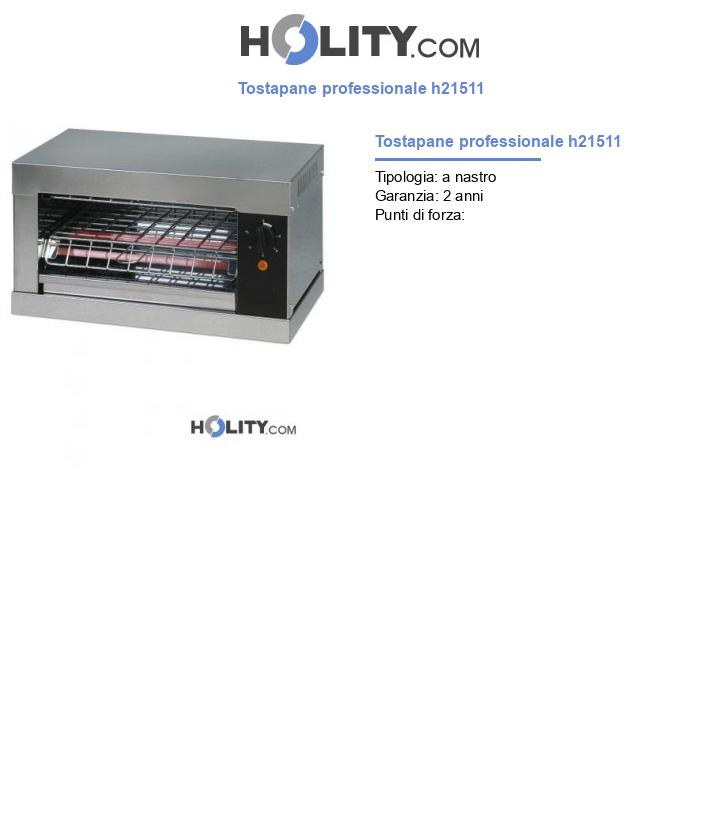 Tostapane professionale h21511