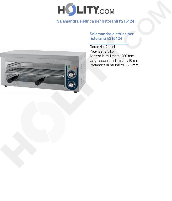 Salamandra elettrica per ristoranti h215124