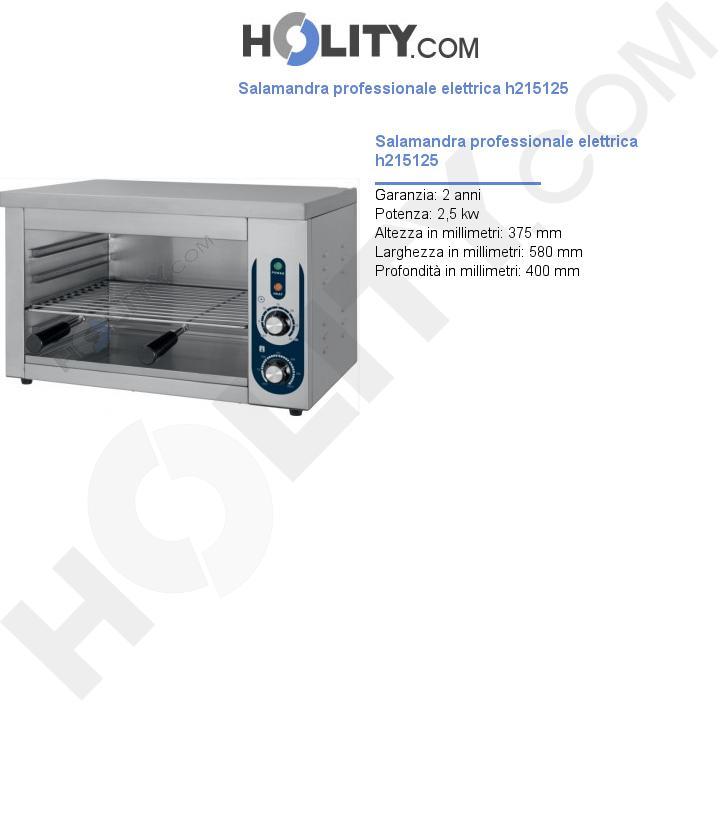 Salamandra professionale elettrica h215125