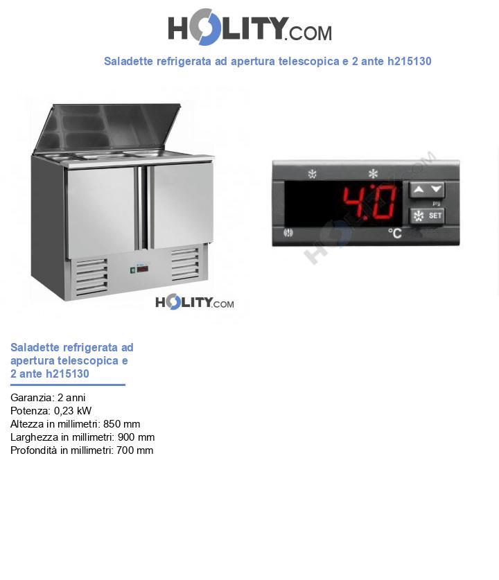 Saladette refrigerata ad apertura telescopica e 2 ante h215130