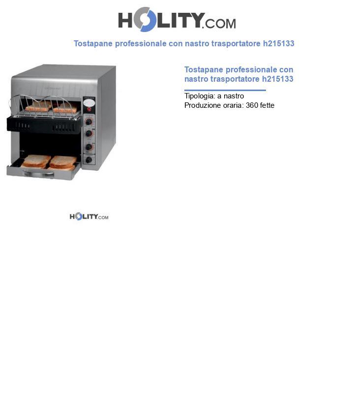 Tostapane professionale con nastro trasportatore h215133
