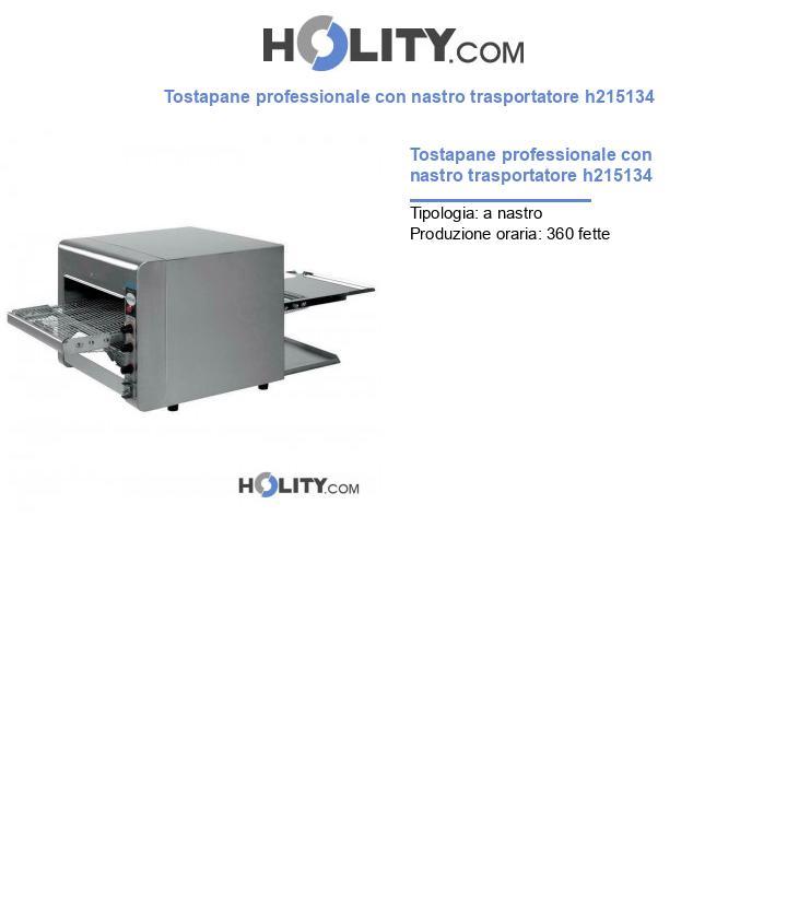Tostapane professionale con nastro trasportatore h215134