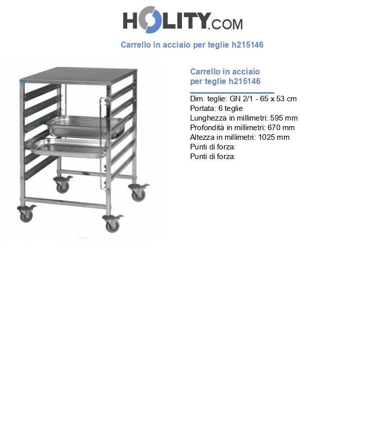 Carrello in acciaio per teglie h215146