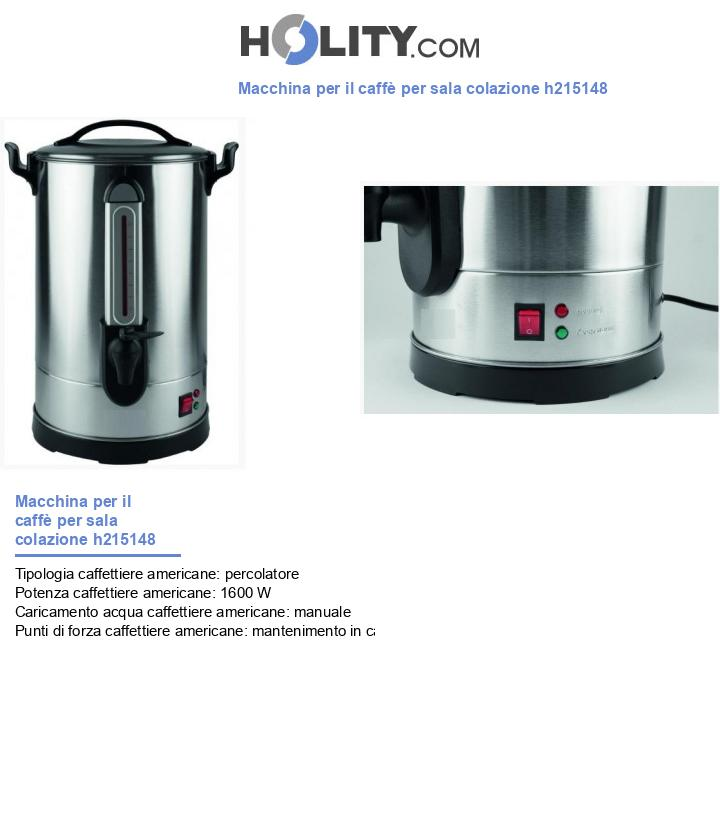 Macchina per il caffè per sala colazione h215148
